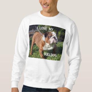 Bulldogge roter und weißer Liebe w pic Sweatshirt