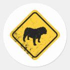 Bulldogge Runder Aufkleber