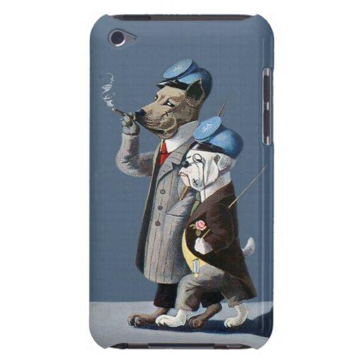 Bulldogge und Deutsche Dogge - anthropomorphe Hund Barely There iPod Etuis