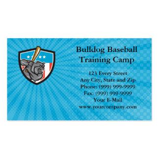 Bulldoggen-Baseball-Ausbildungslager-Visitenkarte Visitenkarten