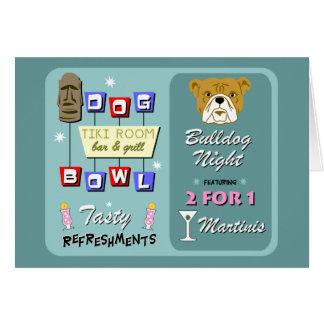 Bulldoggen-Bowling Tiki Nacht Karte