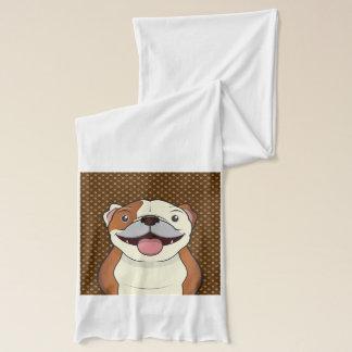 Bulldoggen-Cartoon-Tatzen Schal