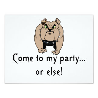Bulldoggen-Einladung