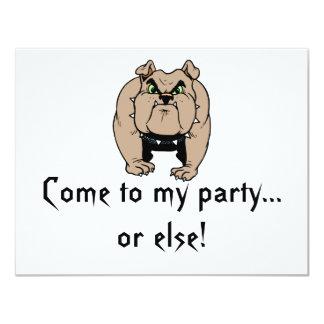 Bulldoggen-Einladung 10,8 X 14 Cm Einladungskarte