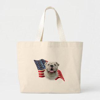 Bulldoggen-Flagge Jumbo Stoffbeutel