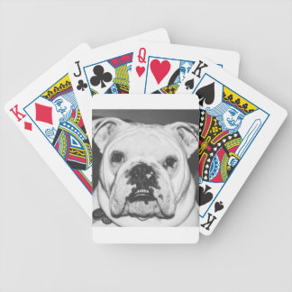 Bulldoggen-Gesicht Bicycle Spielkarten