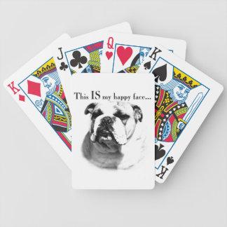 Bulldoggen-glückliches Gesicht Bicycle Spielkarten