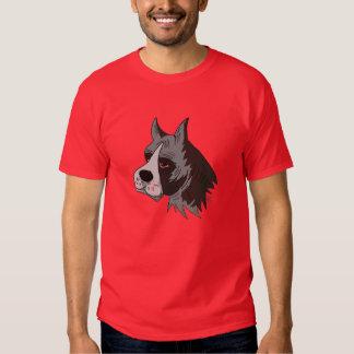 Bulldoggen-grafischer Hauptentwurf auf T - Shirt