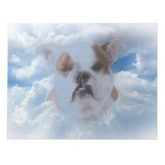 Bulldoggen-Haustier mit Himmels-Wolken Notizblock