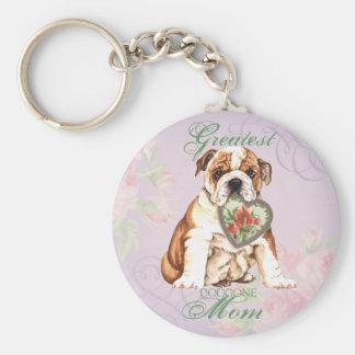 Bulldoggen-Herz-Mamma Schlüsselanhänger