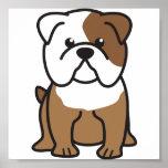Bulldoggen-HundeCartoon Poster