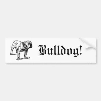 Bulldoggen-Hundegeschäft Autoaufkleber