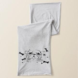 Bulldoggen-Kunst-Druck-Schal Schal