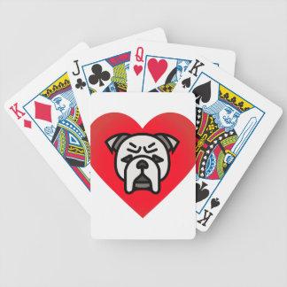 Bulldoggen-Liebe Bicycle Spielkarten