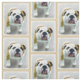 Bulldoggen-Malerei - niedliche ursprüngliche Stoff