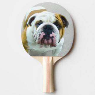Bulldoggen-Malerei - niedliche ursprüngliche Tischtennis Schläger
