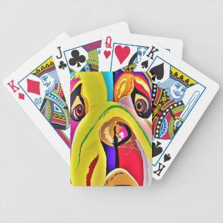 Bulldoggen-Nahaufnahme Bicycle Spielkarten