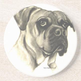 Bulldoggen-Originalvorlage durch Carol Zeock Sandstein Untersetzer
