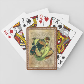 Bulldoggen-Poker-Karten: Standardspielkarten Spielkarten