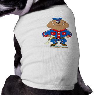 Bulldoggen-Polizist Hund T-shirt