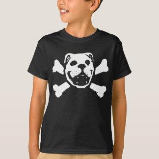 Bulldoggen-Schädel für Kinder T-Shirt