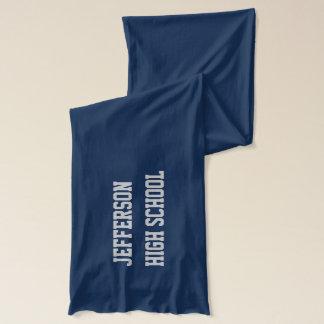Bulldoggen-Schulmaskottchen-Gewohnheits-Schal Schal