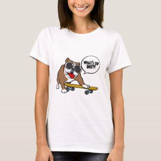 Bulldoggen-Skateboardfahrer T-Shirt