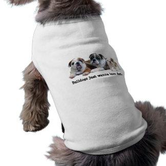 Bulldoggen-Trio-Haustier-Kleidung Shirt