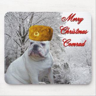 Bulldoggen-Weihnachtenmousepad Mauspads