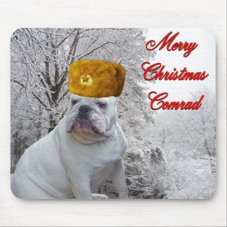 Bulldoggen-Weihnachtenmousepad Mousepad