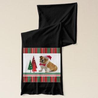 Bulldoggen-Weihnachtsschal Schal