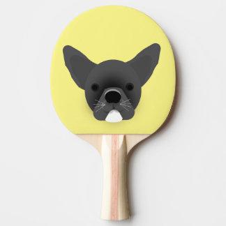 Bulldoggen-Welpe Tischtennis Schläger