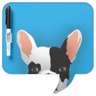 Bulldoggenkunst - französische Bulldogge Memoboard