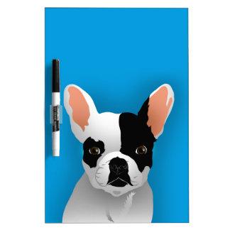 Bulldoggenkunst - französische Bulldogge Trockenlöschtafel