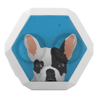 Bulldoggenkunst - französische Bulldogge Weiße Bluetooth Lautsprecher