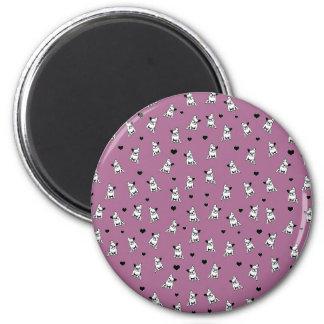 Bulldoggenmuster Runder Magnet 5,1 Cm