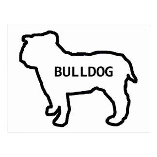 Bulldoggennamenssiloweiß Postkarten