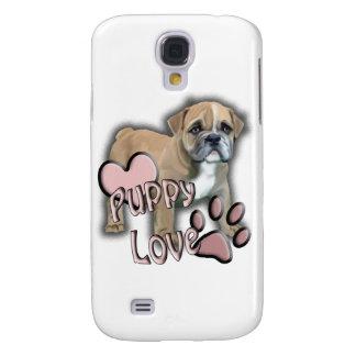 Bulldoggenwelpen-Liebe Galaxy S4 Hülle