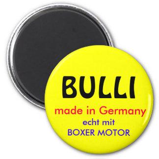 BULLI, made in Germany, echt mit BOXER MOTOR Runder Magnet 5,1 Cm