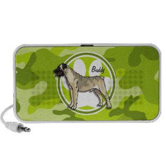 Bullmastiff hellgrüne Camouflage Tarnung Speaker