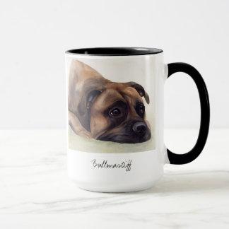 Bullmastiff Hund gemalt in der Wasserfarbe Tasse