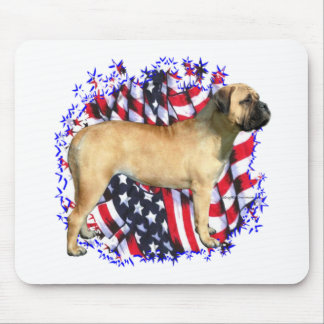 Bullmastiff Patriot Mousepad
