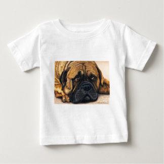 Bullmastiff wartete - Hundezucht-Kunst Baby T-shirt