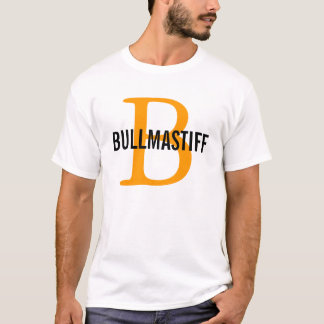 Bullmastiff Zucht-Monogramm-Entwurf T-Shirt