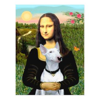 Bullterrier 1 - Mona Lisa Postkarte