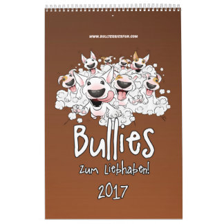 Bullterrier Cartoon-Kalender Wandkalender