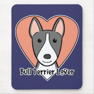 Bullterrier-Liebhaber Mousepad