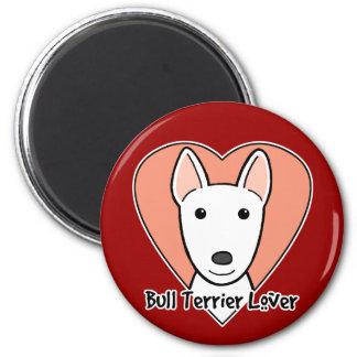 Bullterrier-Liebhaber Runder Magnet 5,1 Cm