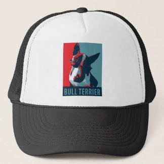 Bullterrier-politische Parodie Truckerkappe