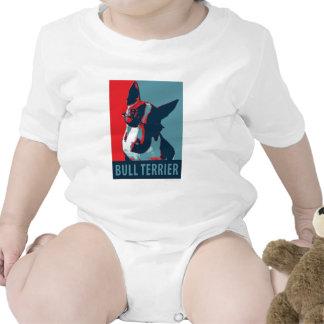 Bullterrier-politische Parodie Baby Strampelanzug